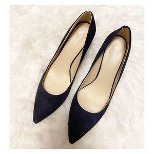 Nine West - Navy Blue Suede Kitten Heels sz. 11